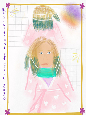 This artwork was submitted to our By Kids, For Kids art auction this spring. Click on the picture to see more wonderful submissions!